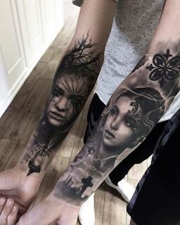 gambar tato keren di lengan full