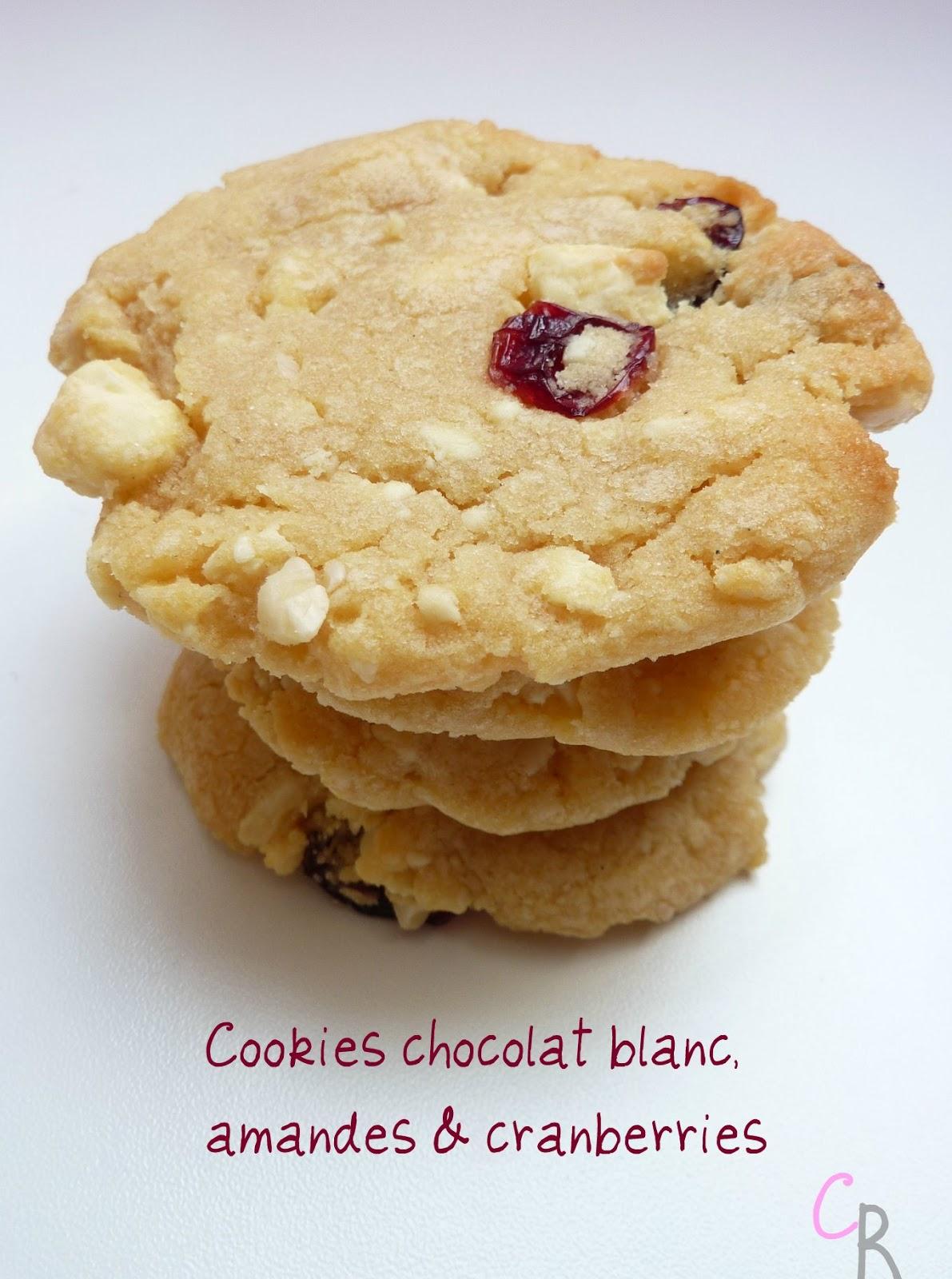 cookingrooxxyy cookies chocolat blanc amandes cranberries. Black Bedroom Furniture Sets. Home Design Ideas