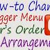How To Change Blogger Top Menu's Order of Arrangement