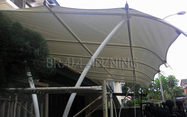 Tenda membrane untuk teras depan rumah minimalis Tenda membrane untuk teras depan rumah minimalis