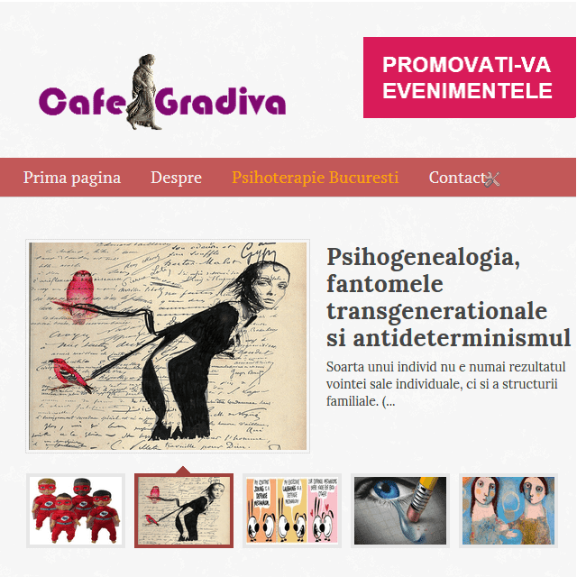 cafe gradiva newsletter psihanaliza psihoterapie cafegradiva.ro