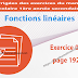 Exercice 04 page 192 - Fonctions linéaires