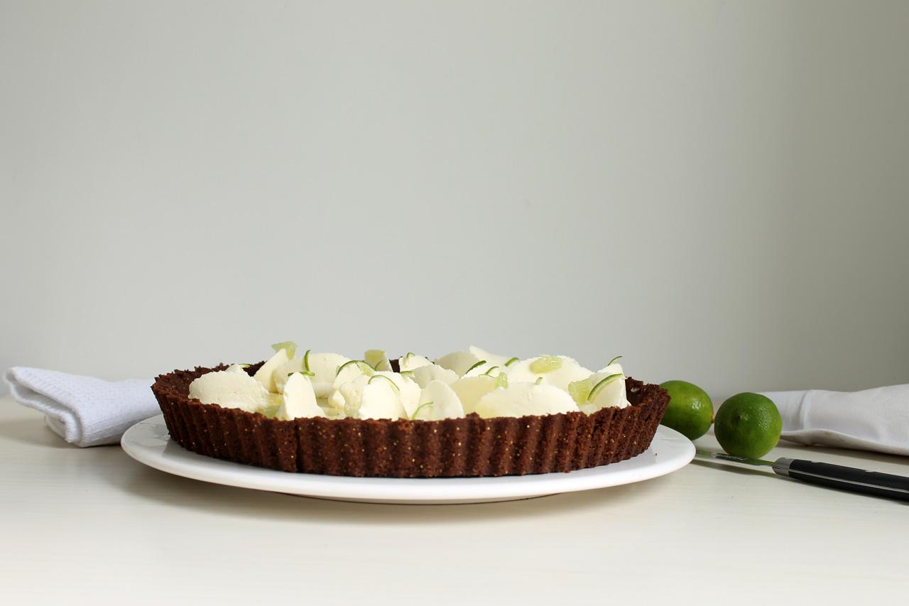 Tarta Key Lime Pie de limón sutil