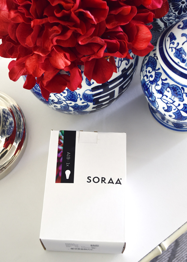The importance of lighting in interior design- a Soraa light bulb review.
