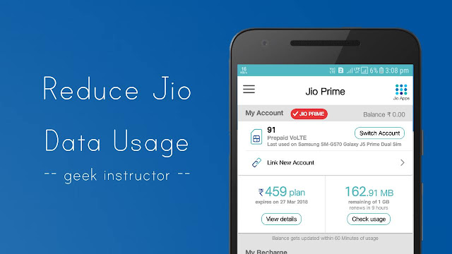 Reduce Jio data usage