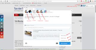 Posting blog secara otomatis ke Facebook dan twitter