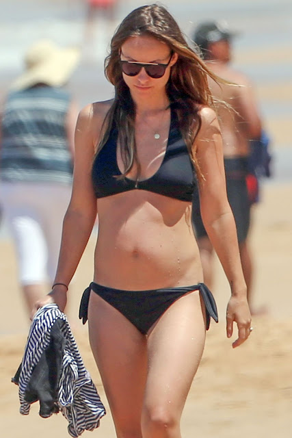 Olivia Wilde in a Bikini at a Beach in Hawaii