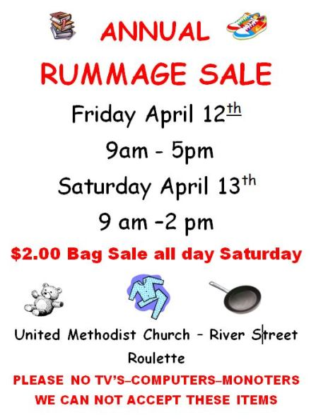 4-12/13 Annual Rummage Sale