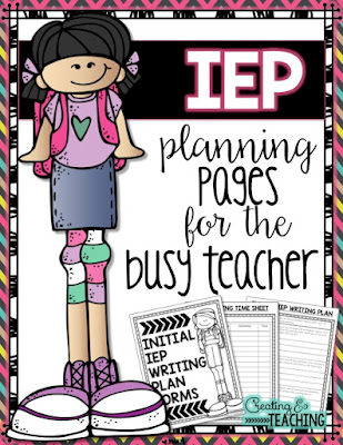 https://www.teacherspayteachers.com/Product/IEP-Planning-Pages-for-the-Busy-Teacher-2600832