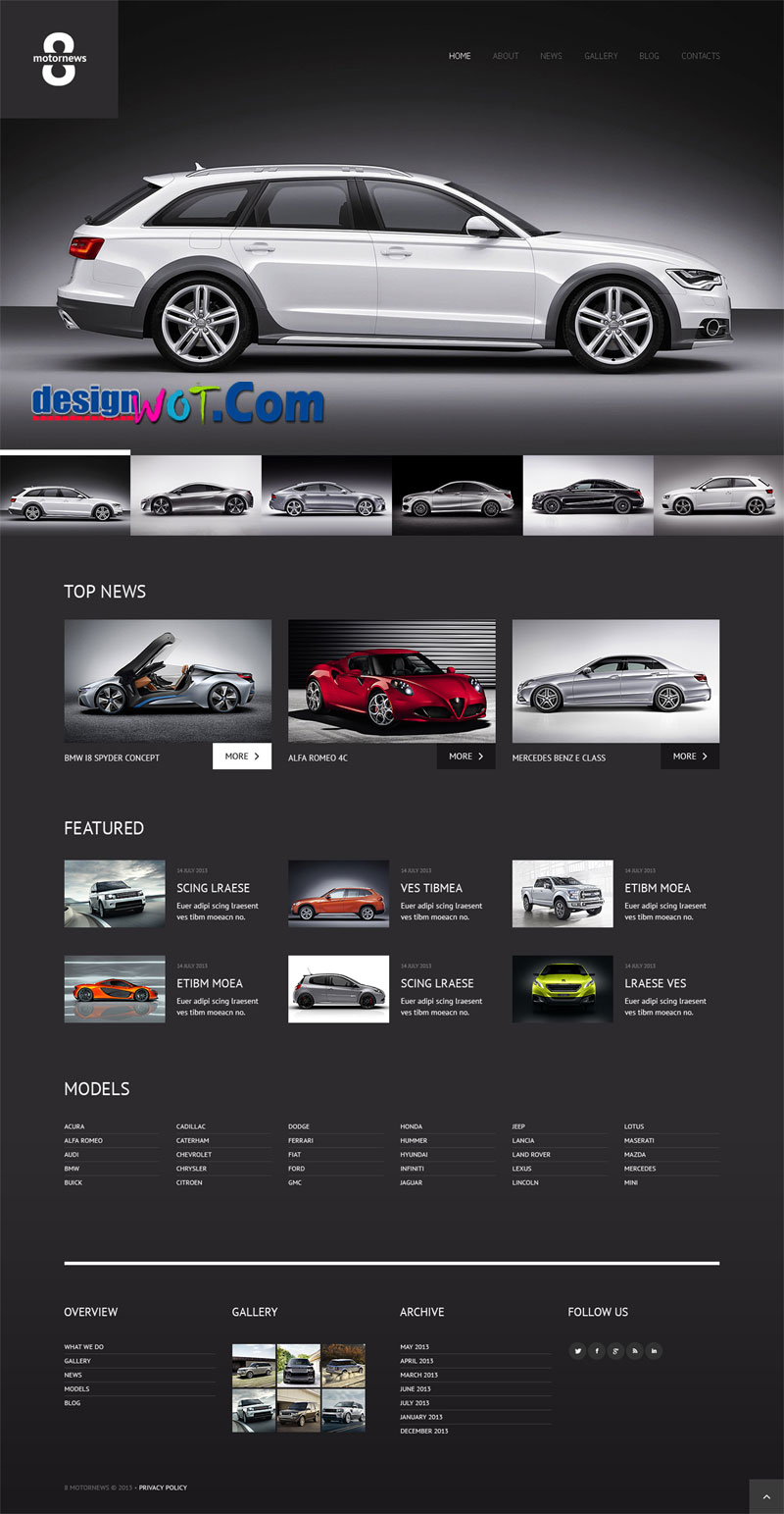 ELEGANT Car Responsive WordPress Theme