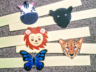 Animal Headbands made from Card and Paper