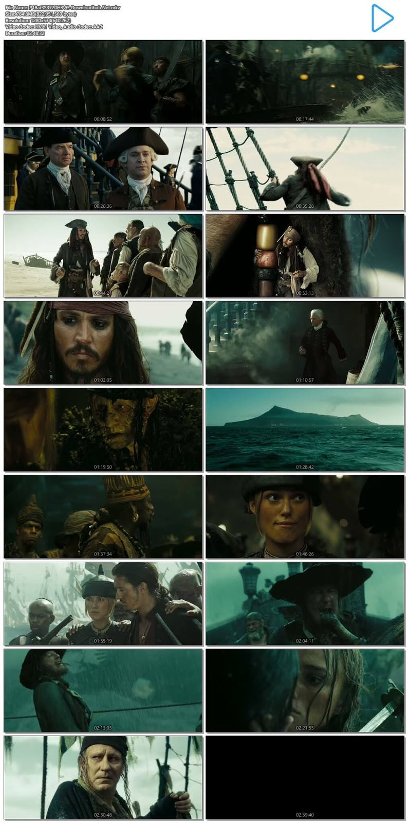 download pirates of the caribbean 5 in hindi 720p bluray