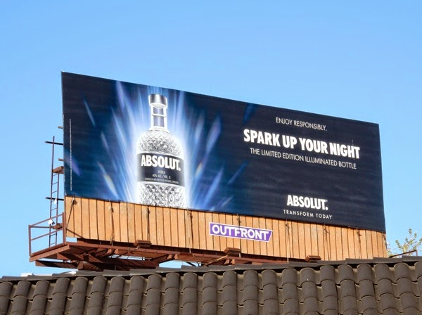 Absolut Spark up your night billboard