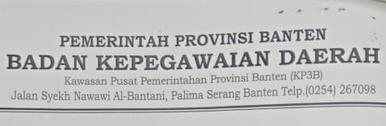 Cek Formasi CPNS Propinsi/Kota/Kabupaten Banten Tahun 2018