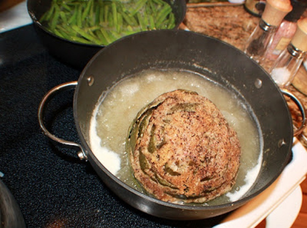 Italian Stuffed Artichokes are a type of flower that is stuffed with bread crumbs and garlic