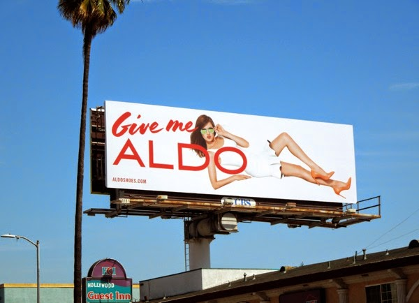 Give me Aldo sunglasses billboard April 2014