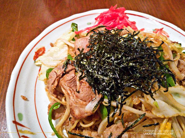 Tokyo Shinbashi Railway Torahachi Restaurant Yakisoba Evening