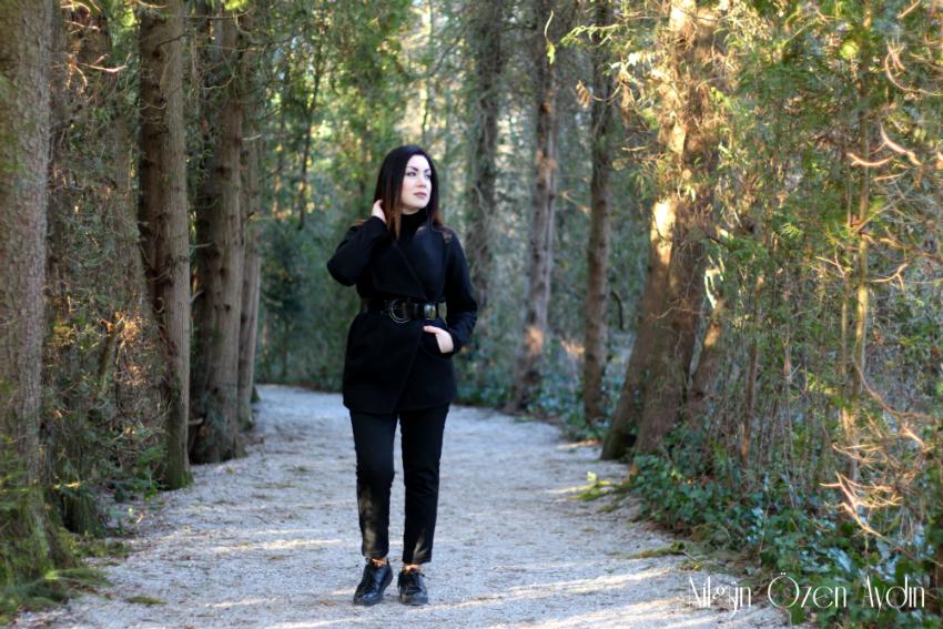 Siyah Kaşe Ceket