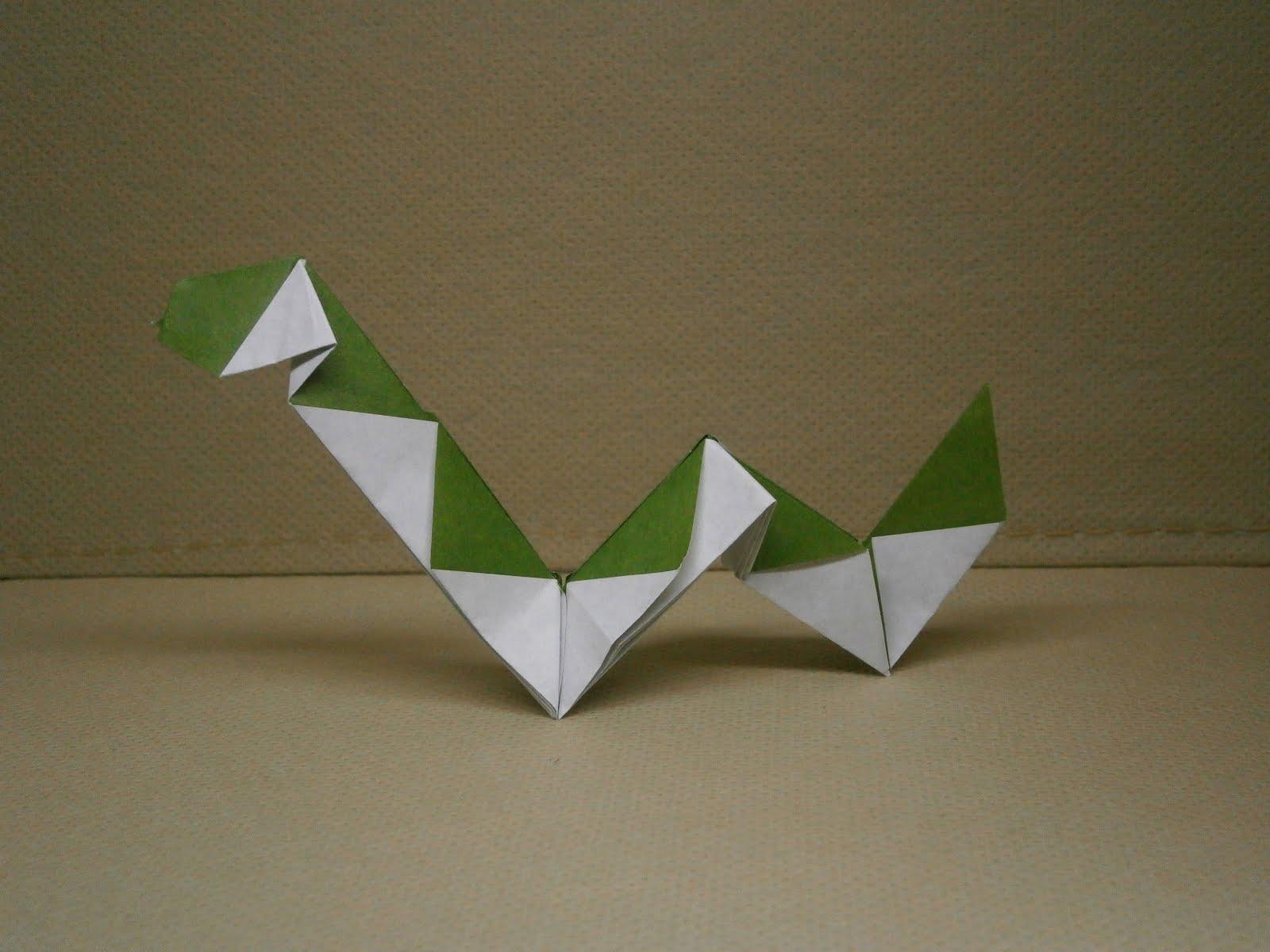 KATAKOTO ORIGAMI: Creation of origami snake that is next ... - photo#3