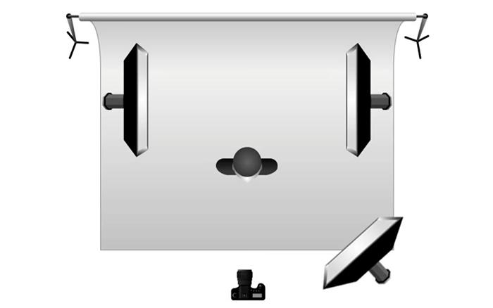 Schemi di illuminazione in studio fotografico corso di