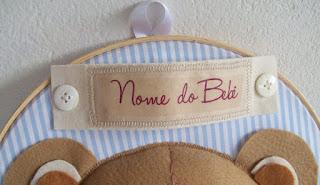 Quadro para Porta de Maternidade – Bastidor