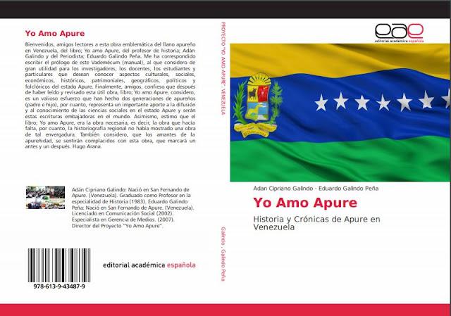 """Conoce la Historia y sus Crónicas del llano venezolano a través del libro; """"Yo Amo Apure"""" en dos generaciones."""