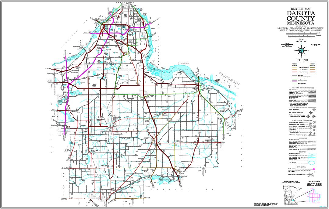 Road map of minnesota