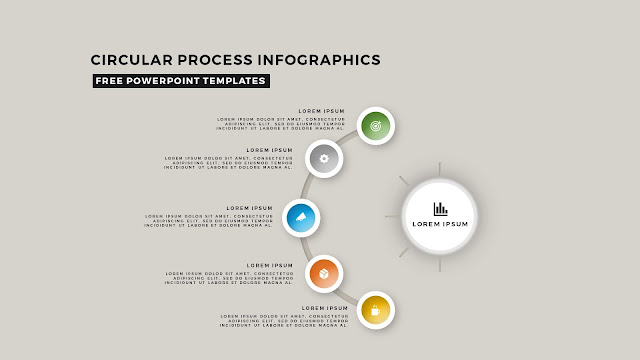 Circular Process Diagram Infographic Free PowerPoint Template Slide 11