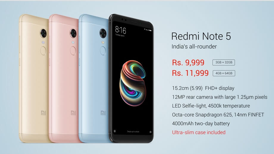 Redmi Note 5 Features