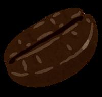 コーヒー豆のイラスト(イタリアンロースト)