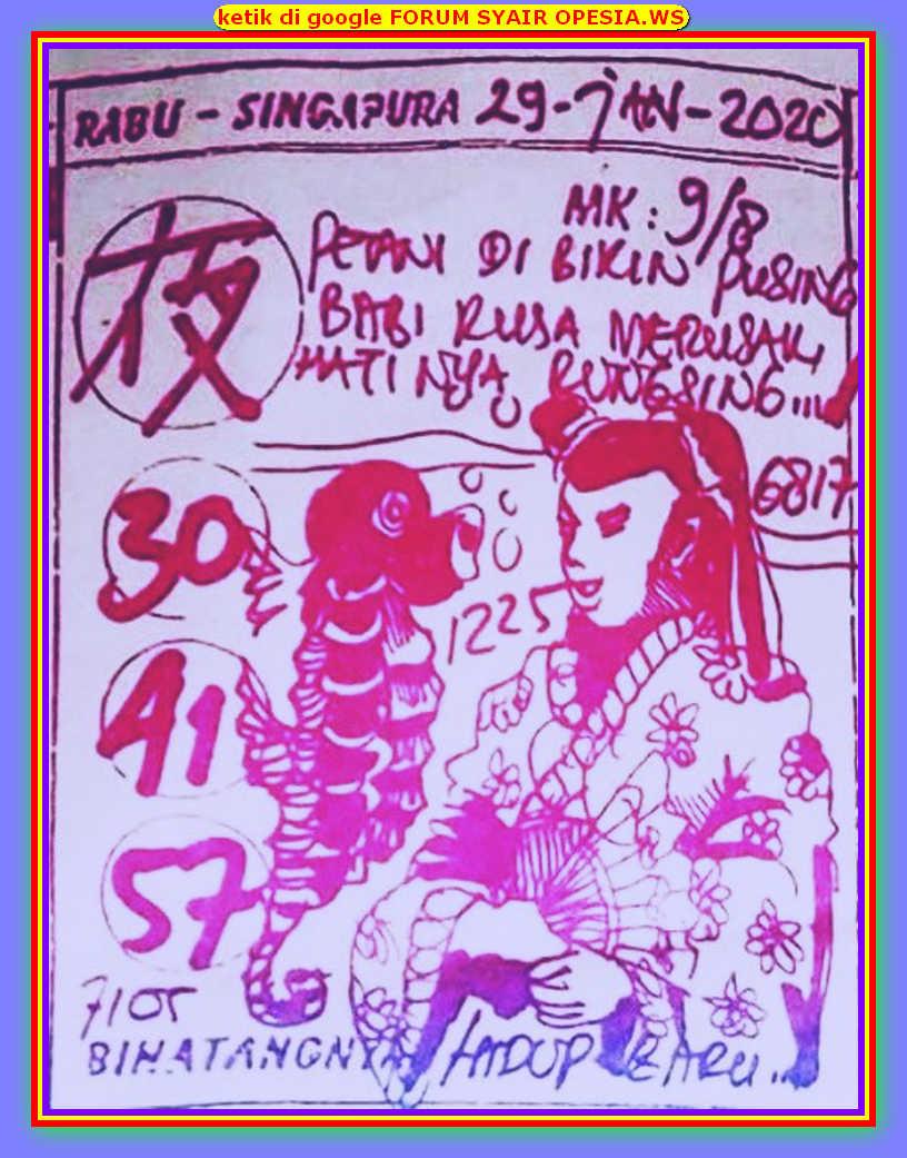 Kode syair Hongkong Rabu 29 Januari 2020 85