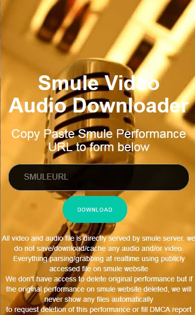 Smule Video Audio Download