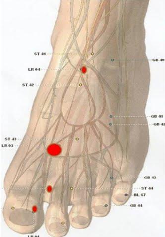 Telinga berdenging, radang sendi, nyeri pada kelamin (LR.4)