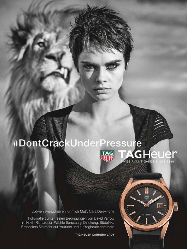 Tag Heuer 2018 Campaign featuring Cara Delevingne