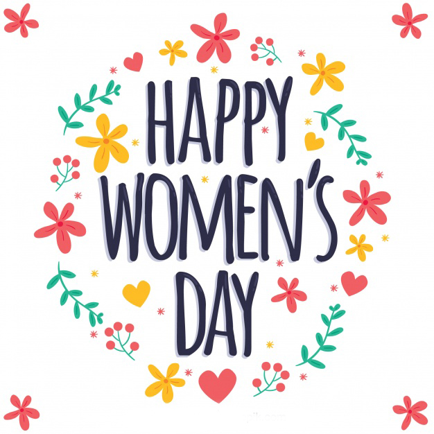 Colorful floral womans day design Free Vector