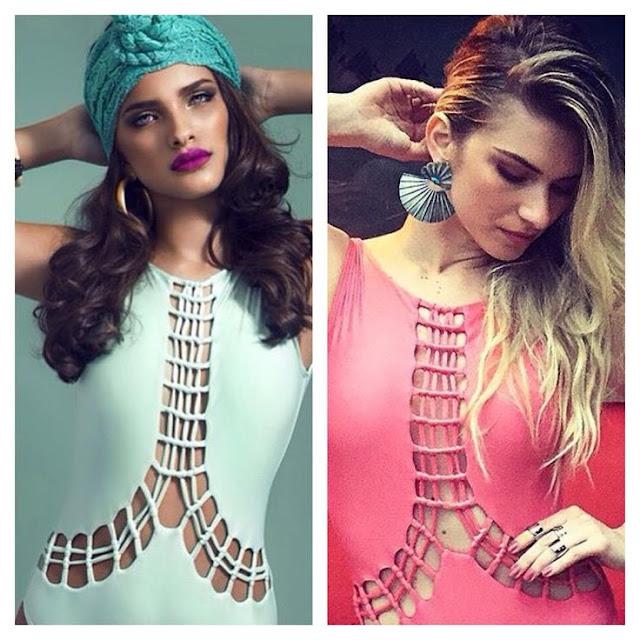 Atena (Giovanna Antonelli) A regra do jogo,body outras cores braco e rosa
