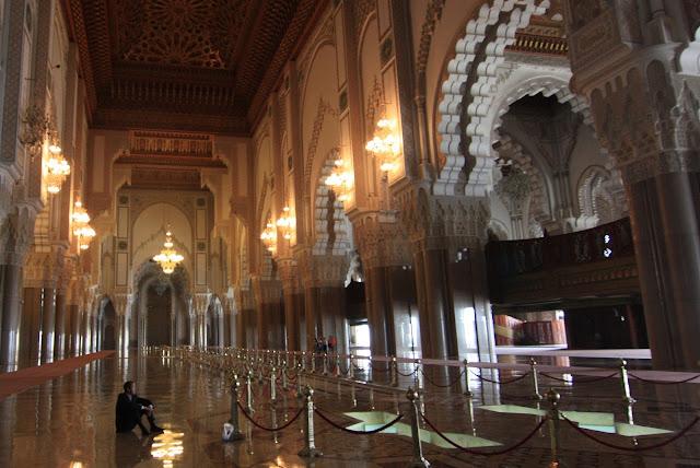 Casablanca, Marruecos, Gran Mezquita, Hassan II, blog de viajes, sala de Oraciones