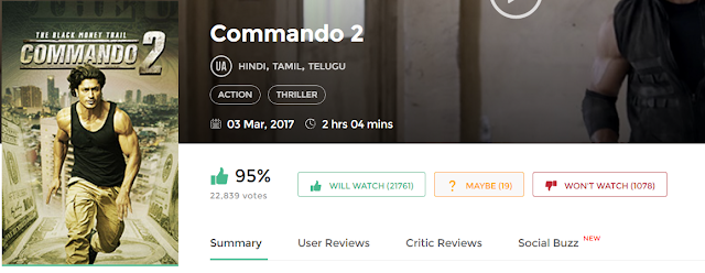 Commando 2 Full Movie in HD 720p avi mp4 3gp hq free