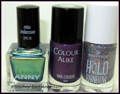 Anny: Miss Undercover; Colour Alike: #497; Essence: Hello Holo!