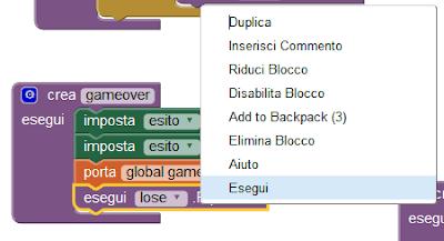 Come eseguire specifici blocchi
