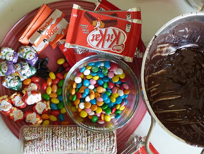 Zutaten für KitKat Häuser