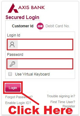 how to reset axis bank debit card pin online