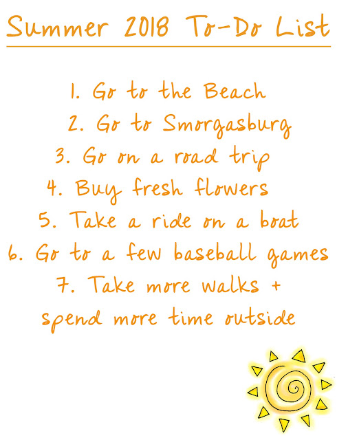 Summer 2018 To Do List