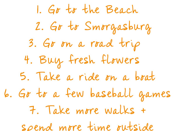 Summer 2018 To Do List