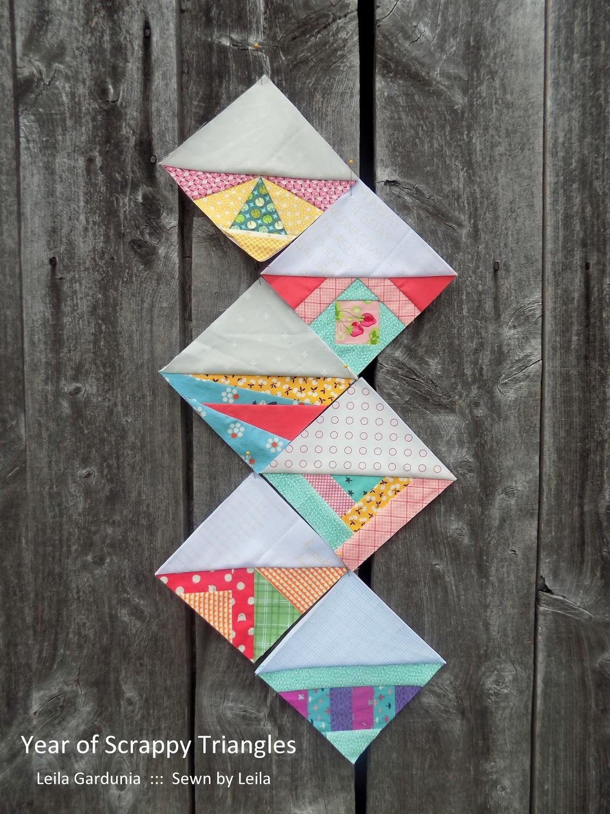 Sewn By Leila Gardunia Year Of Scrappy Triangles