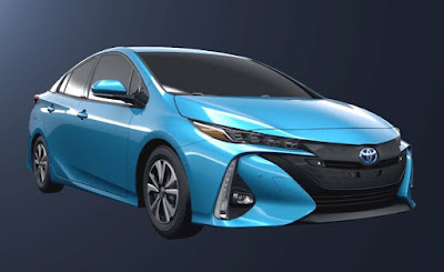 2017 Toyota Prius Prime blue side view image