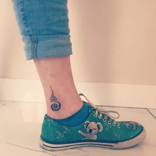 girly ankle tattoo ayak bileği dövmesi kız