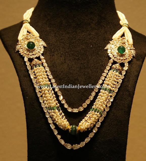 Pearls Polki Strings Necklace