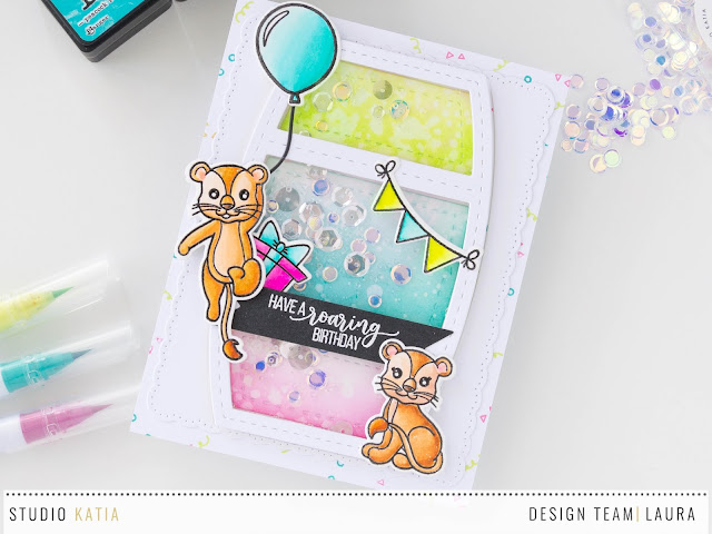 Birthday-Shaker-Card-feat-Studio-Katia-Birthday-Lions-Close-Up