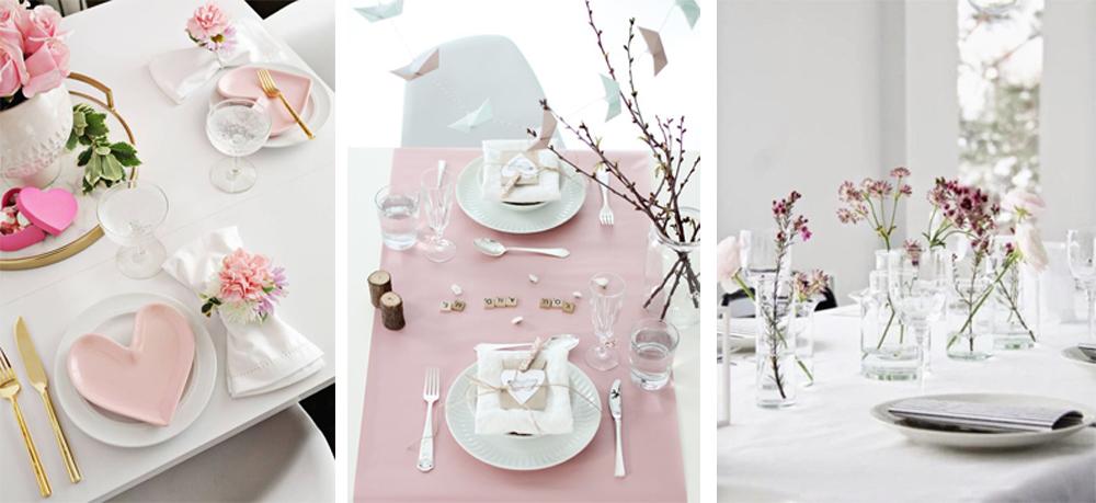 como decorar tu mesa en san valentin estilo minimalista diferente, facil y low cost para 14 de febrero